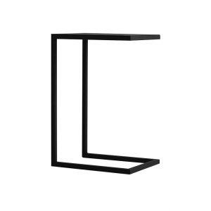 Nordic Design Černý kovový odkládací stolek Volme 30 cm - Výška60 cm- Deska a podnož move Lakovaný kov