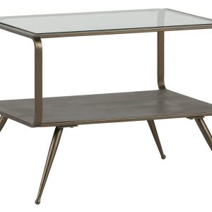Hoorns Mosazný konferenční stolek Clyde 60 x 50 cm - Výška46 cm- Šířka 60 cm