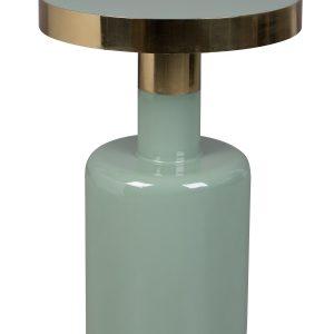 Zelený kovový odkládací stolek ZUIVER GLAM 36 cm - Výška move51 cm- Průměr desky move 36 cm
