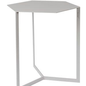 Světle šedý kovový konferenční stolek ZUIVER MATRIX 45 x 38 cm - Max. nosnost move10 kg- Výška 45 cm