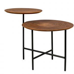Hnědý kovový konferenční stolek DUTCHBONE Mathison 75 x 48