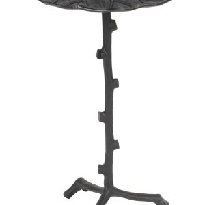 White Label Living Černý jednoduchý kovový odkládací stolek WLL Lily 30 cm - Šířka move30 cm- Hloubka move 30 cm