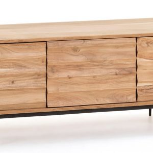 Dřevěný TV stolek LaForma Delsie 147 x 38 cm - Výška50 cm- Hloubka move 38 cm