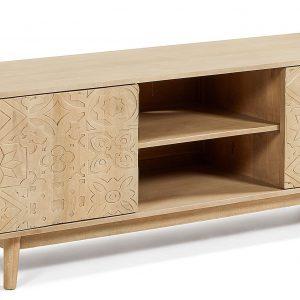 Dřevěný TV stolek LaForma Sakoi 160 x 45 cm - Výška56 cm- Šířka move 160 cm