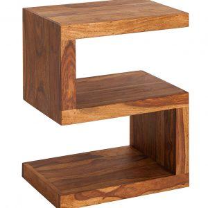 Moebel Living Masivní sheeshamový odkládací stolek Julian 45x60 cm - Výška30 cm- Šířka move 60 cm