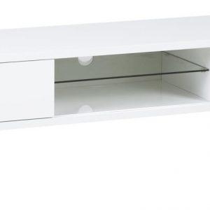 SCANDI Bílý dřevěný TV stolek Elisa 180 x 45 cm - Výška46 cm- Šířka 180 cm