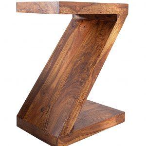 Moebel Living Přírodní masivní sheeshamový odkládací stolek Zeta 45x30 cm - Šířka45 cm- Výška move 60 cm