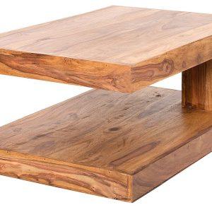 Moebel Living Přírodní masivní konferenční stolek Barny 90x60 cm - Šířka move90 cm- Hloubka move 60 cm