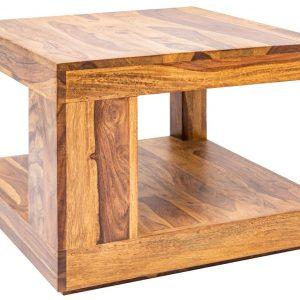 Moebel Living Přírodní masivní konferenční stolek Barny 45x45 cm - Šířka45 cm- Výška move 40 cm