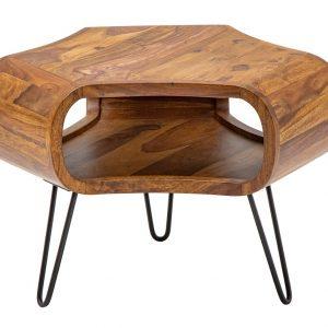 Moebel Living Masivní sheeshamový konferenční stolek Gabriel 60x60 cm - Šířka60 cm- Výška 46 cm