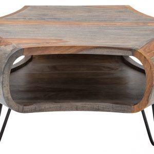 Moebel Living Šedý sheeshamový konferenční stolek Gabriel - Šířka70 cm- Hloubka move 70 cm