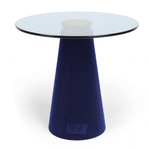 Modrý skleněný odkládací stolek Bold Monkey Leader Of The Fanclub - Výška39 cm- Síla desky move 8 mm