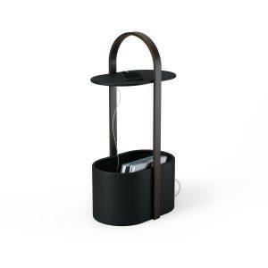 Culty Černý dřevěný odkládací stolek Denta - Výška68 cm- Hloubka move 35 cm
