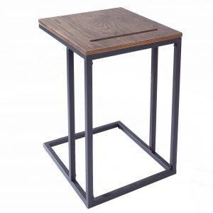 Moebel Living Dubový odkládací stolek Toleto 43 x 38 cm - Výška58 cm- Šířka move 43 cm
