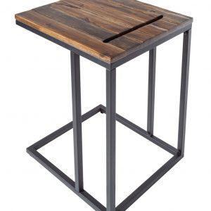Moebel Living Akátový odkládací stolek Toleto 43x38cm - Šířka43 cm- Výška 58 cm