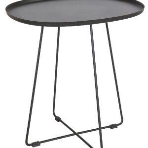 Hoorns Černý kovový odkládací stolek Arborio 51x43 cm - Výška50 cm- Hloubka move 51 cm