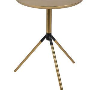 White Label Living Mosazný odkládací stolek WLL FRAAN 37x31 cm - Výška46 cm- Max. nosnost move 5 kg