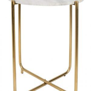 White Label Living Bílý mramorový odkládací stolek WLL TIMPA 44