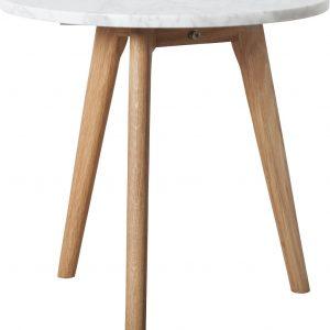 Bílý mramorový odkládací stolek ZUIVER WHITE STONE 40 cm - Průměr desky move40 cm- Výška desky move 15 mm