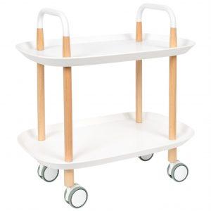 White Label Living Bílý plastový odkládací stolek WLL Cruiser 57