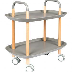 White Label Living Šedý plastový odkládací stolek WLL Cruiser 57