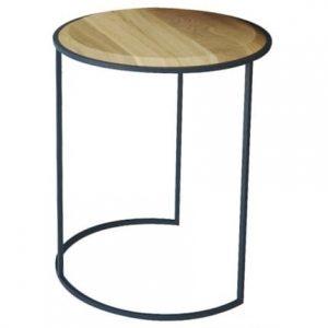 My Modern Home Šedý odkládací stolek Rondi - Výška51 cm- Průměr move 42