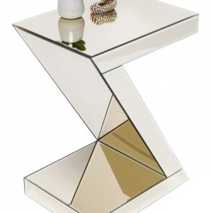KARE DESIGN Zrcadlový odkládací stolek Luxury Z Champagne 45x33 cm - Výška60 cm- Korpus move MDF