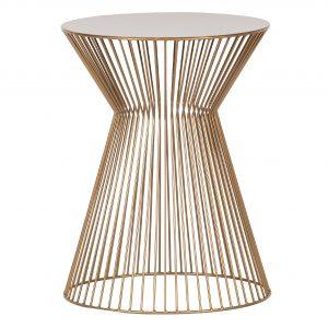 Hoorns Zlatý kovový odkládací stolek Timon 35 cm - Výška46 cm- Průměr move 35 cm