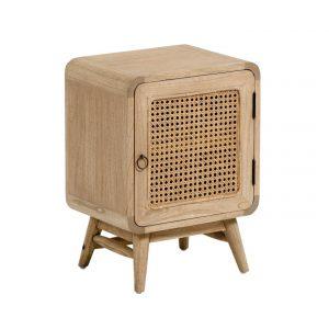 Přírodní dřevěný noční stolek LaForma Nalu 40 x 30 cm - Výška55 cm- Šířka 40 cm