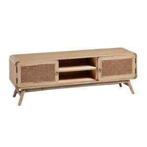 Přírodní dřevěný TV stolek LaForma Nalu 150 x 40 cm - Výška50 cm- Šířka 150 cm