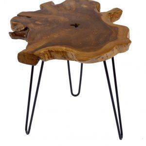 Moebel Living Přírodní teakový konferenční stolek Wilde 55 cm - Výška51 cm- Šířka move 55 cm