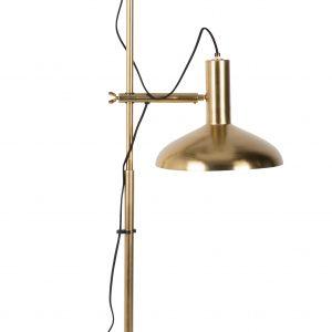 Mosazná kovová stojací lampa DUTCHBONE Karish - Výška163 cm- Šířka 69 cm