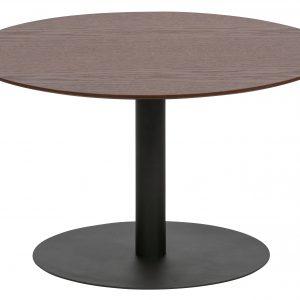Hoorns Ořechový kulatý konferenční stolek Poseidon 60 cm - Výška35 cm- Průměr move 60 cm