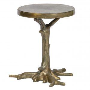 Hoorns Mosazný odkládací stolek Root 40 cm - Výška46 cm- Průměr move 40 cm
