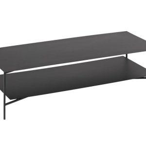 Černý konferenční stolek LaForma Azisi 140 x 60 cm - Výška36 cm- Šířka move 140 cm