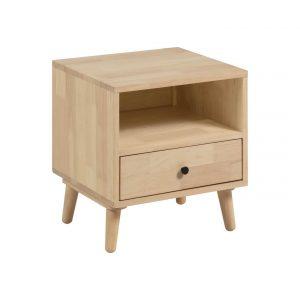 Přírodní dřevěný noční stolek LaForma Wari 50 x 45 cm - Výška54 cm- Šířka move 50 cm
