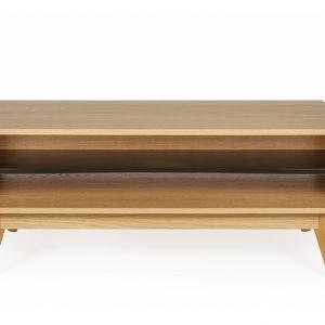 Přírodní dubový konferenční stolek Woodman Avon 110x60 cm - Výška45 cm- Šířka move 110 cm