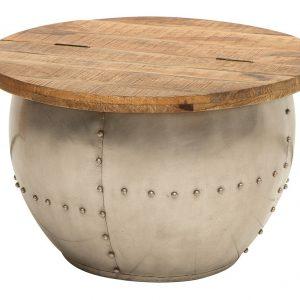 Moebel Living Přírodní masivní konferenční stolek Armure 68 cm - Šířka68 cm- Výška 44 cm