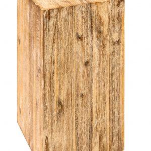 Moebel Living Přírodní masivní odkládací stolek Dora 26x26 cm - Šířka26 cm- Výška move 50 cm