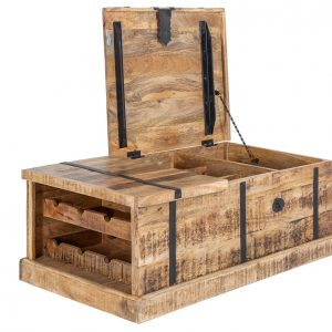 Moebel Living Masivní mangový konferenční stolek Alfred II 100x60 cm - Šířka100 cm- Hloubka move 60 cm