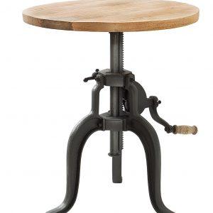 Moebel Living Přírodní masivní odkládací stolek Visy 50 cm - Šířka50 cm- Výška 47-69 cm