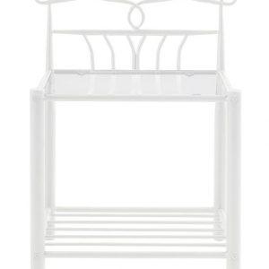 SCANDI Bílý kovový noční stolek Liben - Výška66 cm- Šířka move 50 cm