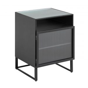 Černý kovový noční stolek LaForma Trixie 45 x 41 cm - Výška58 cm- Šířka 45 cm