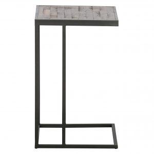 Hoorns Teakový odkládací stolek Victor 45 x 35 cm - Výška55 cm- Šířka move 45 cm