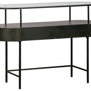 Hoorns Černý kovový toaletní stolek Dinah 120 x 46 cm - Výška83 cm- Šířka 120 cm