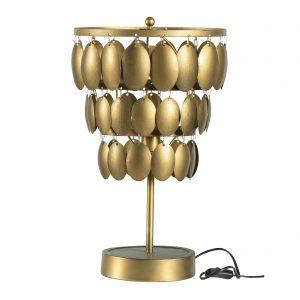 Hoorns Mosazná stolní lampa Turtle 34 cm - Výška40 cm- Průměr 34/28/22 cm