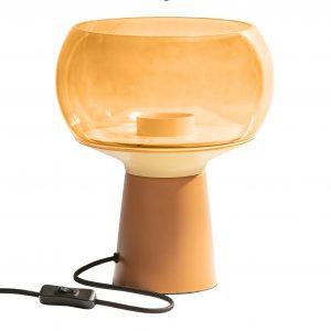 Hoorns Žlutá kovová stolní lampa Boletus ø 24 cm - Výška28 cm- Průměr 24 cm