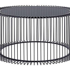 Černý kovový konferenční stolek Bizzotto Kieran 80 cm - Výška38 cm- Průměr move 80 cm