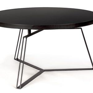 Černý kovový konferenční stolek Bizzotto Zaira 70 cm - Výška38 cm- Průměr move 70 cm