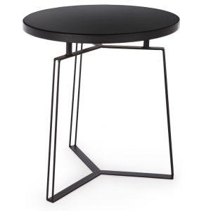 Černý kovový konferenční stolek Bizzotto Zaira 50 cm - Výška50 cm- Průměr move 55 cm